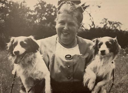 Baroness van Hardenbroek with her Kooikerhondjes